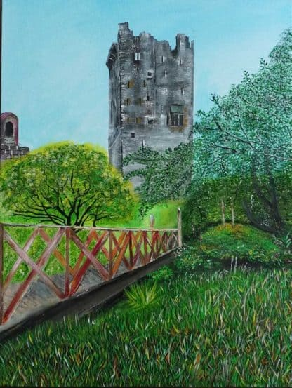 Original Irish landscape painting of Blarney Castle Co.Cork. Art for sale in online gallery, Irish gifts for the home
