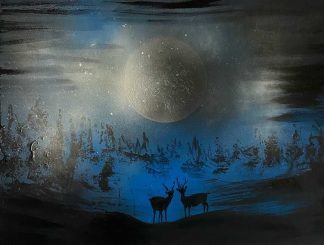 Gortin Moonlight Original painting for sale in online gallery by Irish artist. Browse a large variety of art for the home here