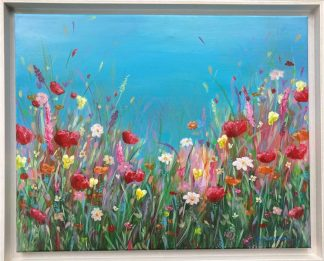 Original floral painting for sale in online gallery. Art by Irish artist. Art for the home or office, browse a huge variety here