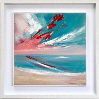 Good to be Alive, contemporary abstract painting, Irish art, seascape, modern Irish art, buy art, art find, art for my home