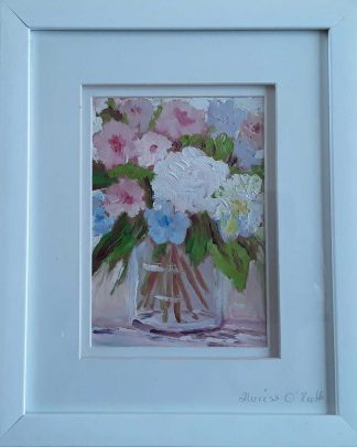 Original floral art for sale in online gallery. Gift ideas, art for the home, framed art for sale, coloured flowered paintings