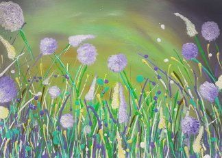 Floral painting for sale in online gallery. Stunning soft tones in this beautiful painting that would suit any room in your home