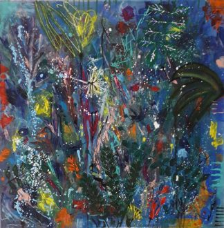 Abstract art, a variety of colours within this original painting sure to add life to a dull room or wall. Gift ideas