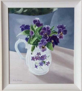 Original floral painting for sale in online gallery by Irish artist. Would make a lovely gift idea and would suit any room