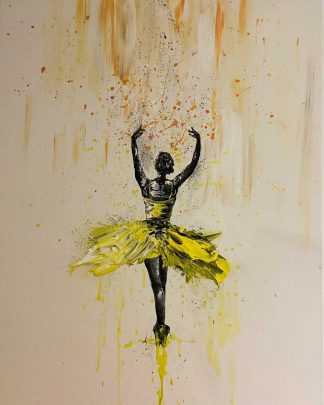 Original abstract painting for sale. Art, yellow, colours, gifts, wall art for the home, office, Irish artist