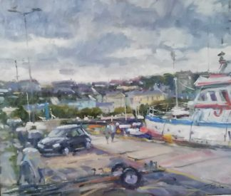 Original painting of Howth Harbour by Irish artist Norman Teeling. Irish art for your home, gift ideas, collectors items