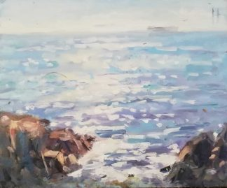Original painting Howth by Irish artist Norman Teeling. Irish art for your home, gift ideas, collectors items