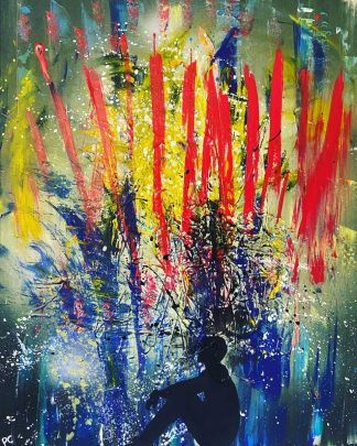 Original abstract painting for sale. Art, gifts, wall art for the home, office, Irish artist, homemade gifts