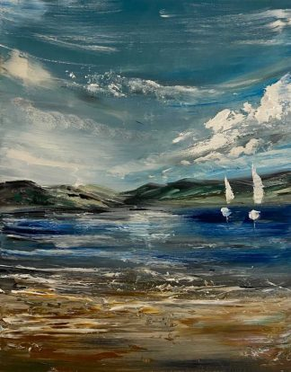 Original abstract painting for sale. Art, seascape art, gifts, wall art for the home, office, Irish artist