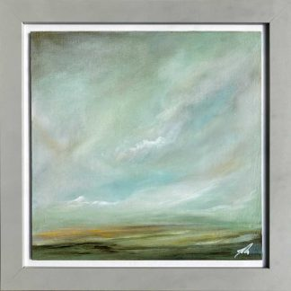 Abstract landscape original painting. Oil on board. Framed and ready to hang. Art for the home, gift ideas for any occasion.