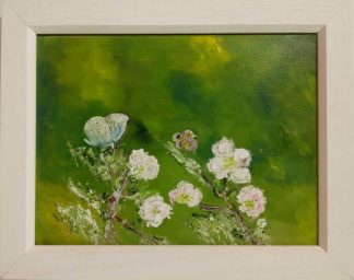 Original floral painting for sale in online gallery. Art for the home, framed and ready to hang. Irish artist