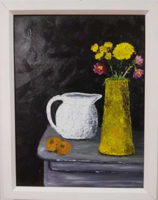Original still life painting for sale in online gallery. Art for the home, framed and ready to hang. Irish artist