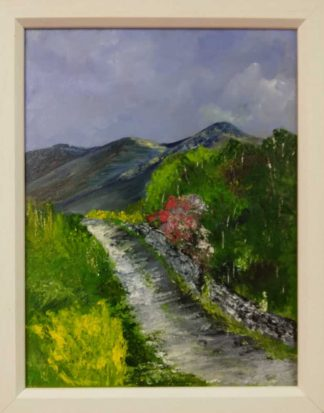 Original landscape painting for sale in online gallery. Art for the home, framed and ready to hang. Irish artist