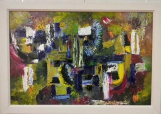 Original abstract painting for sale in online gallery. Art for the home, framed and ready to hang. Irish artist