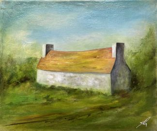 Original Irish landscape painting for sale in online gallery. A wonderful piece of art for a country cottage or a great gift idea