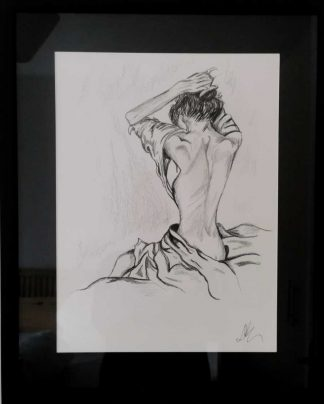 Drawing of a woman getting up and ready for the day ahead. Gift ideas for wives, friends, sisters, anniversary gifts